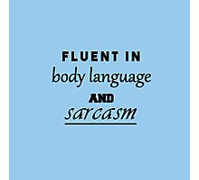 Body language and sarcasm - color: blue Photographic Print