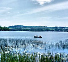 Fishing On Lake Carmi by Deborah  Benoit