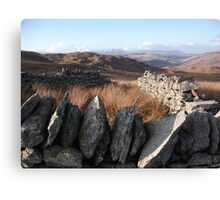 Lake District Fells in Winter Sun Canvas Print