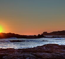 Godrevy Sunset 2 by Paul Thompson Photography