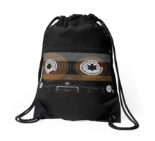 Retro Music Cassette Tape Drawstring Bag