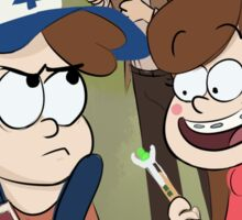 Gravity Falls X Doctor Who Sticker