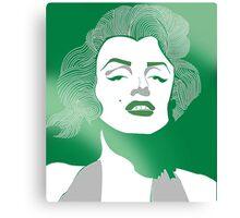 Shades of green Marilyn Monroe Canvas Print