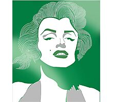 Shades of green Marilyn Monroe Photographic Print