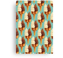 Twin Cone Pattern - Teal Canvas Print