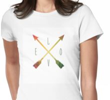 LOVE Arrows Womens Fitted T-Shirt