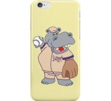 Slugger: the Cute, Funny Baseball or Softball Playing Hippo iPhone Case/Skin