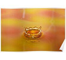 Orange Water Drop 2 Poster