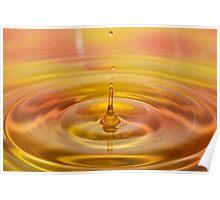 Orange Water Drop 3 Poster