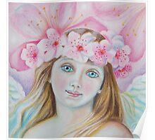 Cherry Blossom Angel  Poster