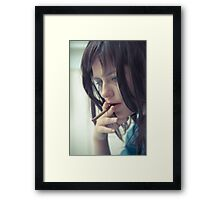Smokin Blues Framed Print