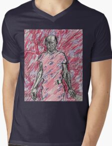 'Energy Made Real (Portrait of Jackson Pollack)' Mens V-Neck T-Shirt