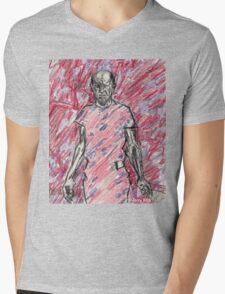 'Energy Made Real (Portrait of Jackson Pollack)' Mens V-Neck T-Shirt