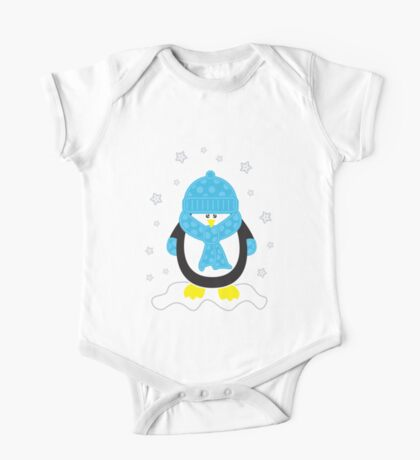 Baby It's Cold Outside [Boy Penguin] One Piece - Short Sleeve