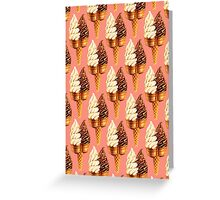 Twin Cone Pattern - Pink Greeting Card