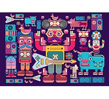 vector band and musicians  Photographic Print