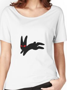 The black rabbit of Inlé Women's Relaxed Fit T-Shirt