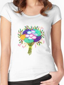BOUQUET FLOWERS Women's Fitted Scoop T-Shirt