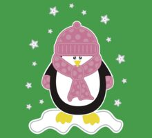Baby It's Cold Outside [Girl Penguin] Kids Tee