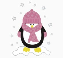 Baby It's Cold Outside [Girl Penguin] One Piece - Short Sleeve