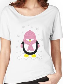 Baby It's Cold Outside [Girl Penguin] Women's Relaxed Fit T-Shirt