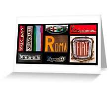Italian Brands Greeting Card