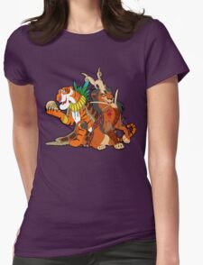 Old Queens of the Past - Scar and Shere Khan Womens Fitted T-Shirt