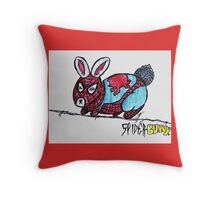 The Amazing Spider-Bunny! Throw Pillow
