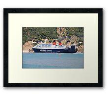 Ferry departure, Skopelos Framed Print