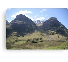 Three Sisters of Glencoe Canvas Print
