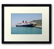 Express Pegasus docking in Skopelos Framed Print