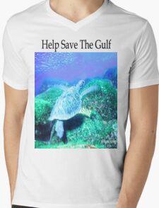 Help Save The Gulf Mens V-Neck T-Shirt