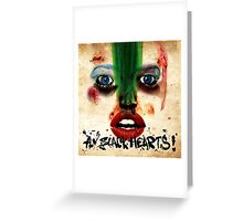 Fly Black Hearts! Greeting Card