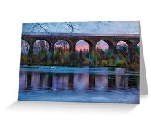 Viaduct at Reddish Vale Country Park Greeting Card