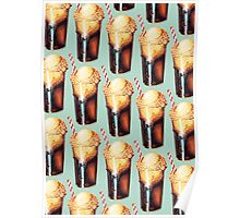 Root Beer Float Pattern Poster