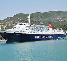 Express Pegasus ferry, Skopelos by David Fowler