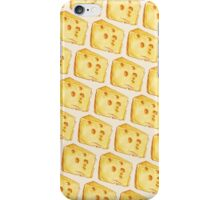 Cheese Pattern - White iPhone Case/Skin
