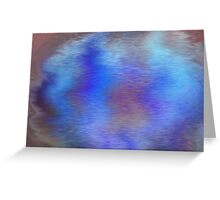 Distorted Waters Greeting Card