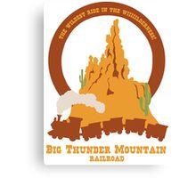 Big Thunder Mountain Railroad Canvas Print