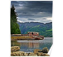 Abandoned Boat On Loch Ness. Poster