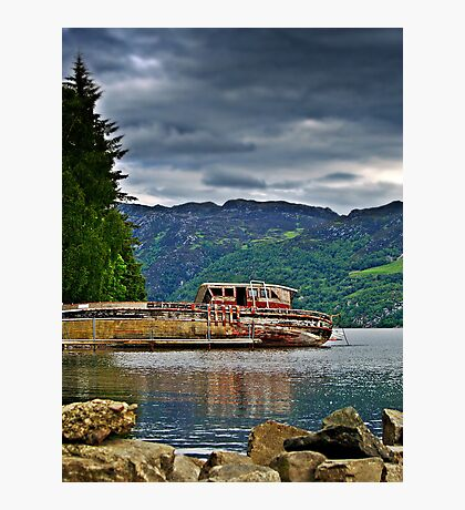 Abandoned Boat On Loch Ness. Photographic Print