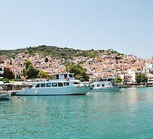 Skopelos Town harbour, Greece by David Fowler