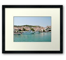 Skopelos Town harbour, Greece Framed Print