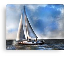 Ship Shape on The Sea Canvas Print