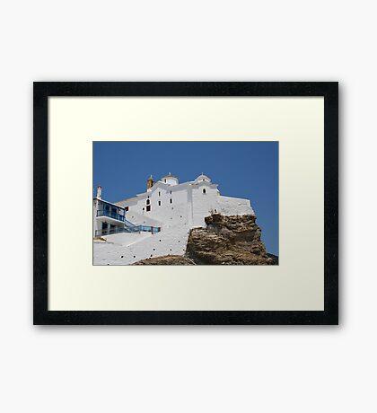 Panagia Tou Pyrgou, Skopelos Framed Print