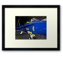 #7 Blue Angel in hanger Framed Print