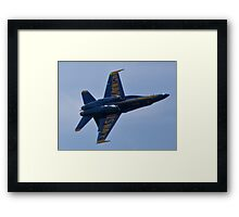 Solo Blue Angel rolling Framed Print