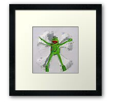 Kermit Snow Angel (1st place Boston Globe) Framed Print
