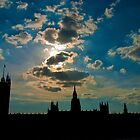 Silhouette of Big Ben and Parliament, London by zuzanab