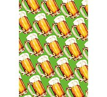 St. Patricks Day - Beer Pattern Photographic Print